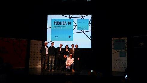 Foto final ganadores de 10x10. Pública 14